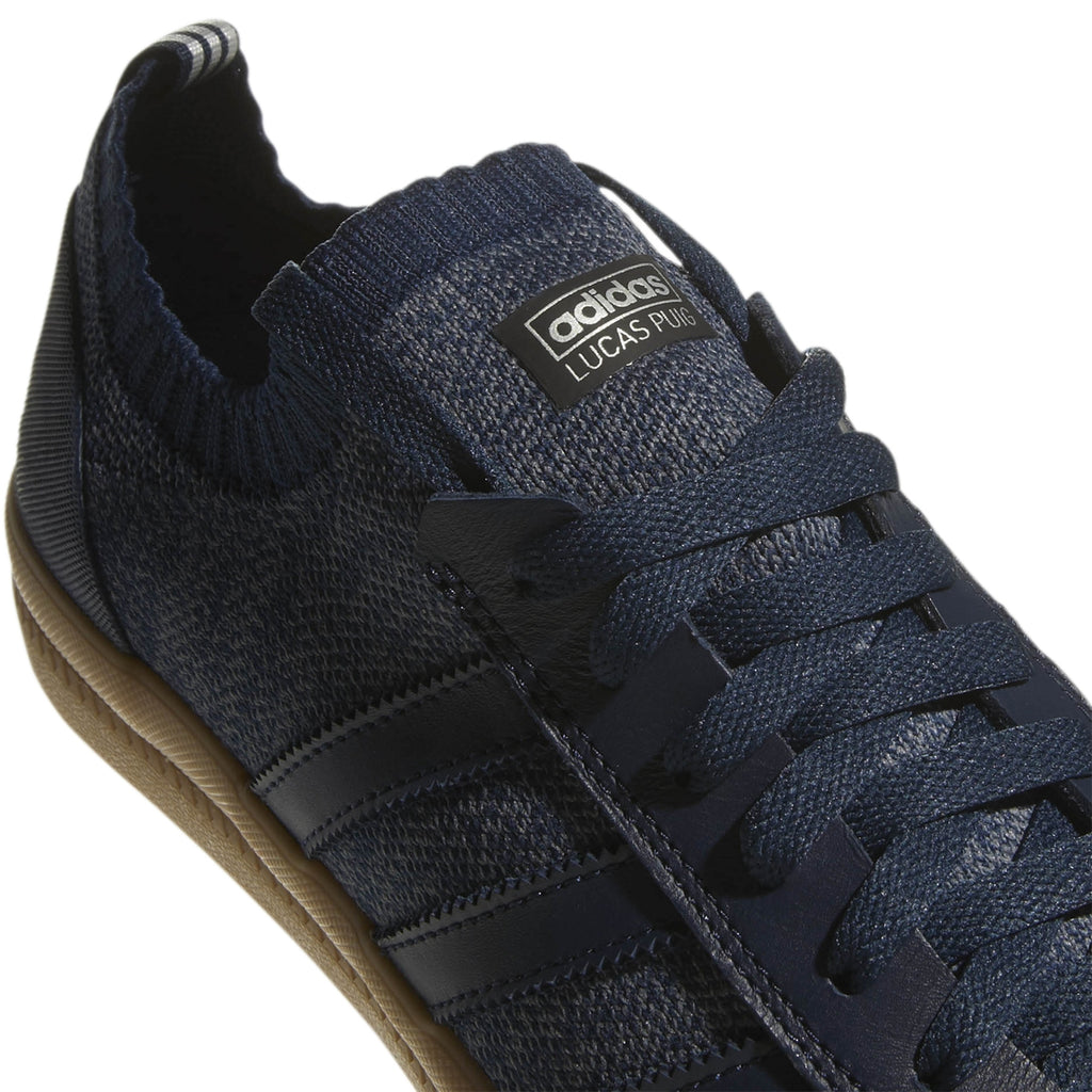 Adidas Lucas Premiere Primeknit Shoes in Collegiate Navy / Onix / Gum - Detail 2