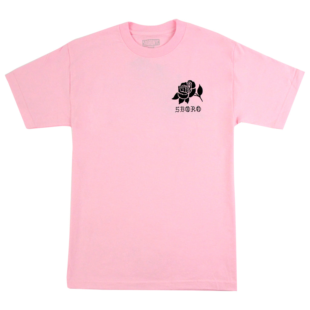 5Boro 5B Rose T Shirt in Pink - Front