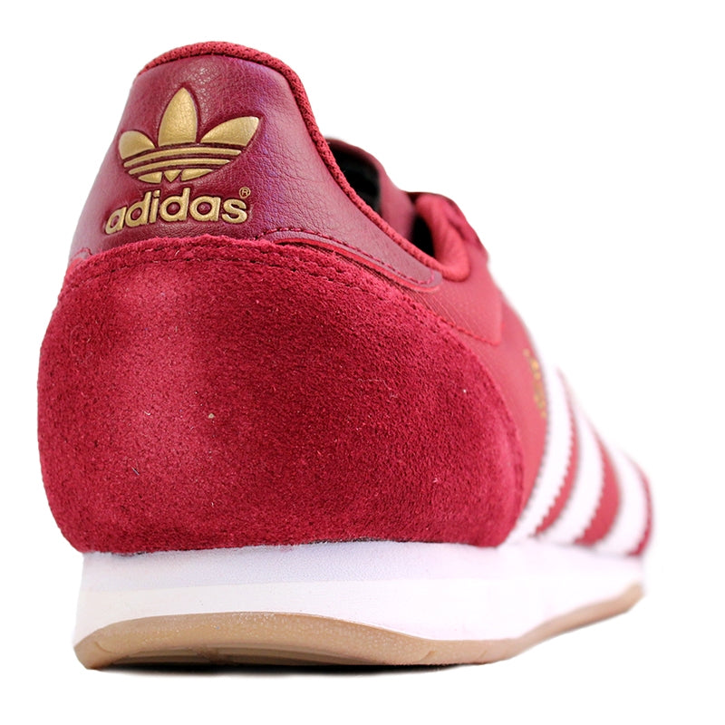 Adidas Skateboarding Silas SLR Shoes in St Nomad Red/Running White/Metalic Gold - Heel
