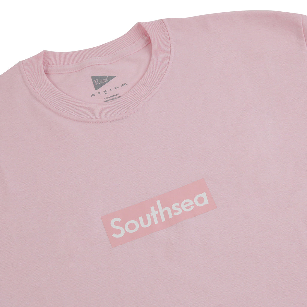 "Bored of Southsea ""Southsea"" T Shirt in Light Pink / Light Pink Box - Detail"