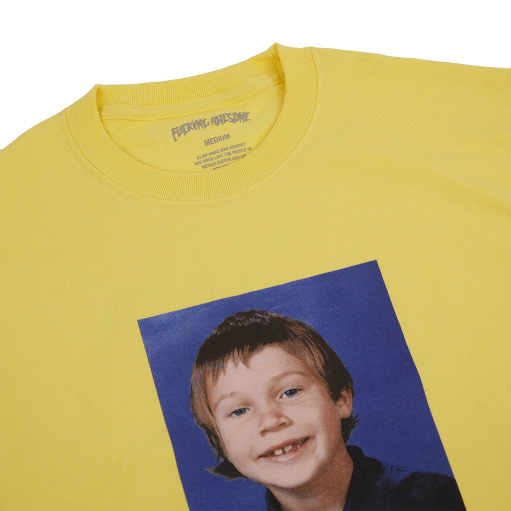 Fucking Awesome Elijah Class Photo T Shirt in Yellow - Detail