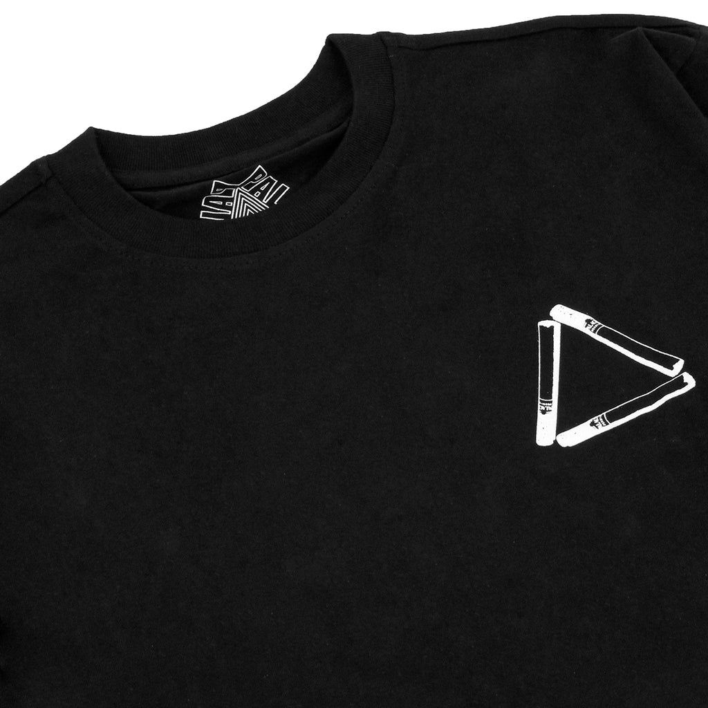 Palace Tri Smoke L/S T Shirt in Black - Detail