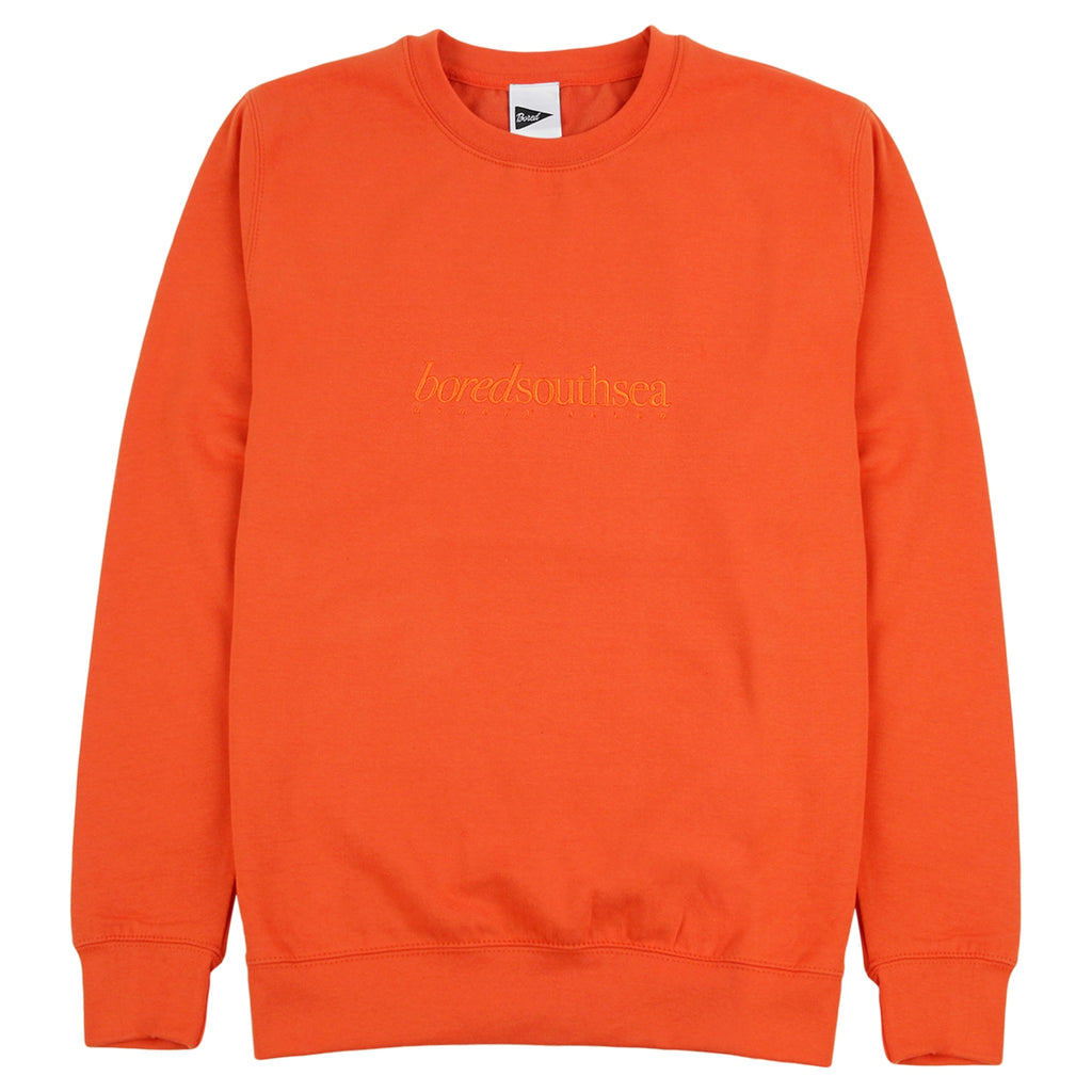 Bored of Southsea Hammer Sweatshirt in Burnt Orange / Burnt Orange