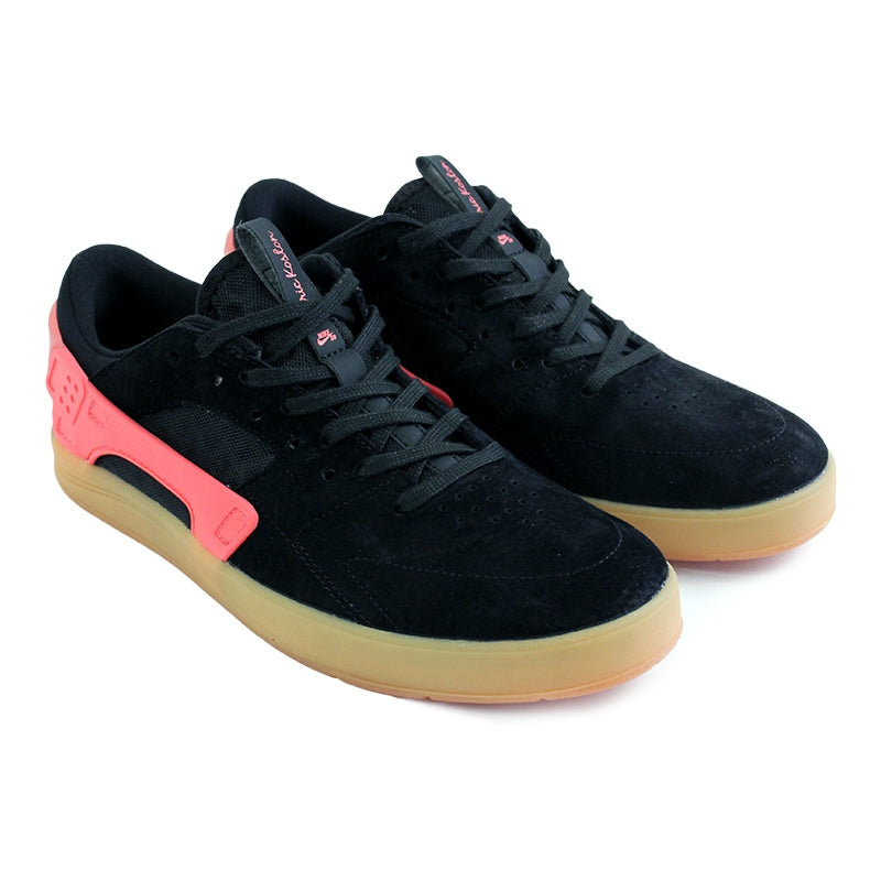 Nike SB Eric Koston Huarache Shoes in Black / Hot Lava / Gum Light Brown - Paired