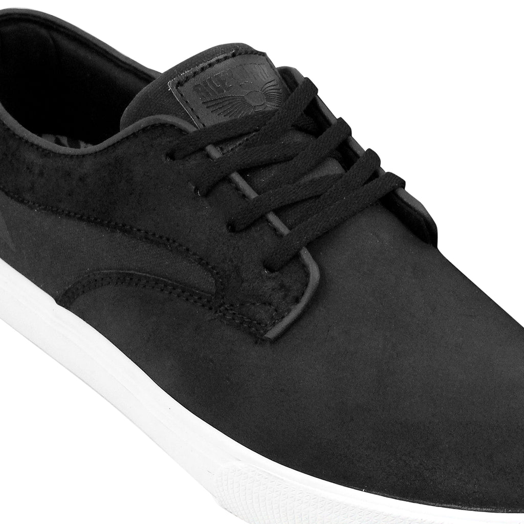 Lakai Riley Hawk Oiled Suede Shoes in Black - Detail