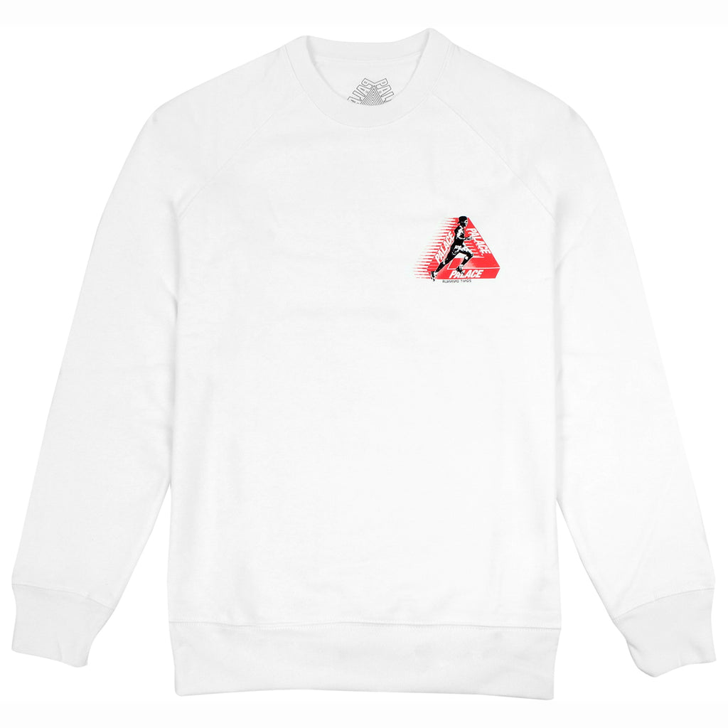 Palace Running Tings Crew in White - Front