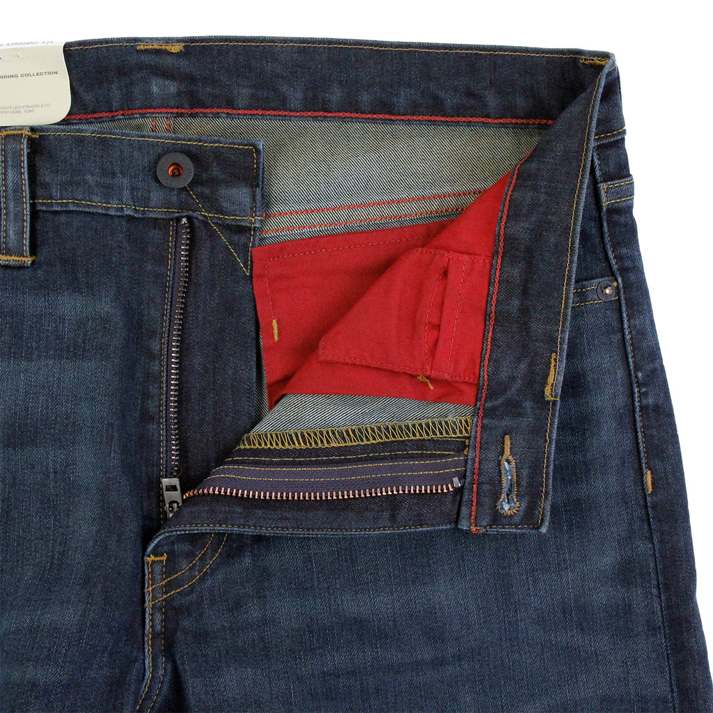 Levis Skateboarding 513 Slim Straight Jeans in EMB - Open zip