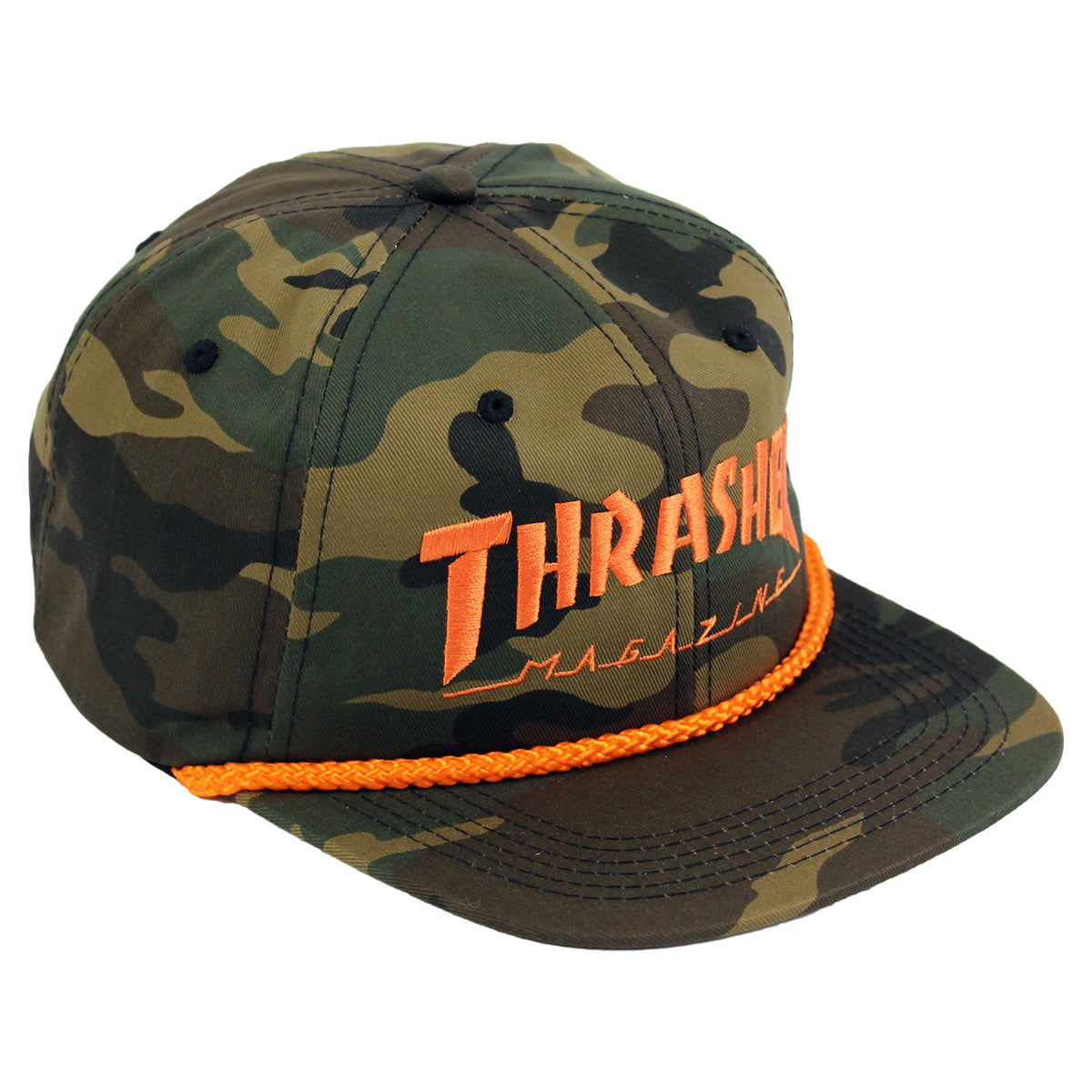 1830b4012bd Rope Cap in Camo by Thrasher