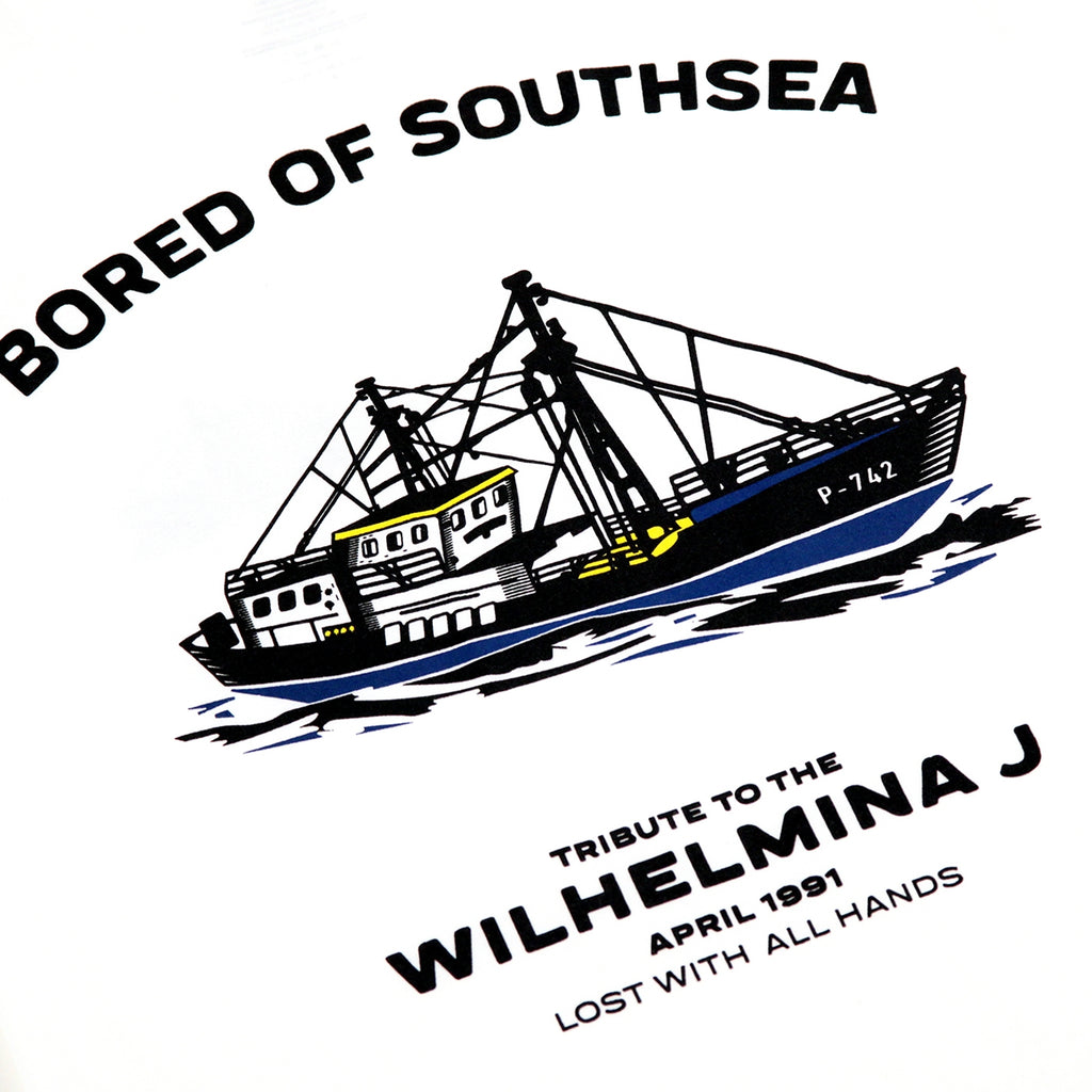 Bored of Southsea Wilhelmina J T Shirt in White - Print 2