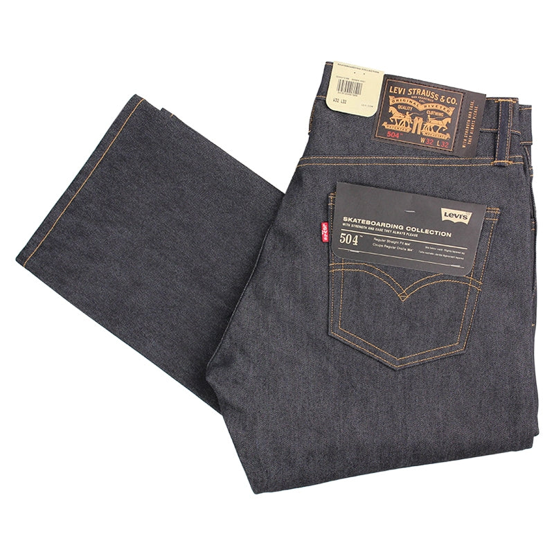 Levi's Skateboarding Collection 504 Straight Jeans in Rigid Indigo