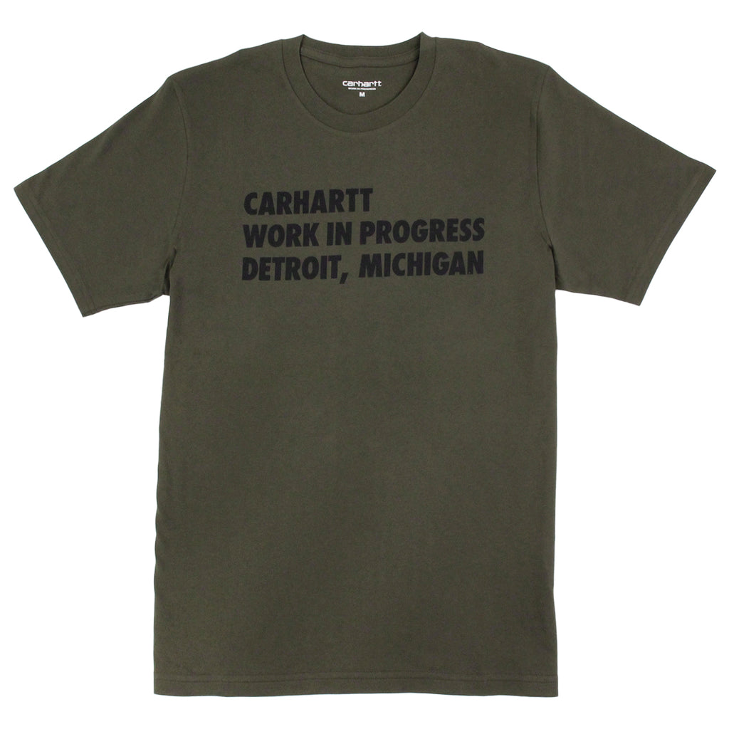 Carhartt S/S Bold Type T Shirt in Cypress / Black