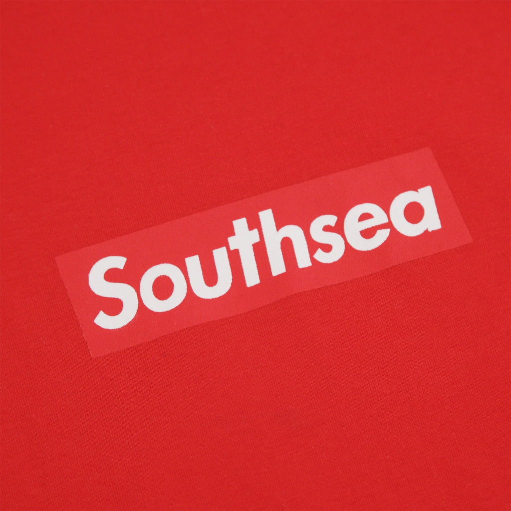 "Bored of Southsea ""Southsea"" T Shirt in Red / Red Box - Print"
