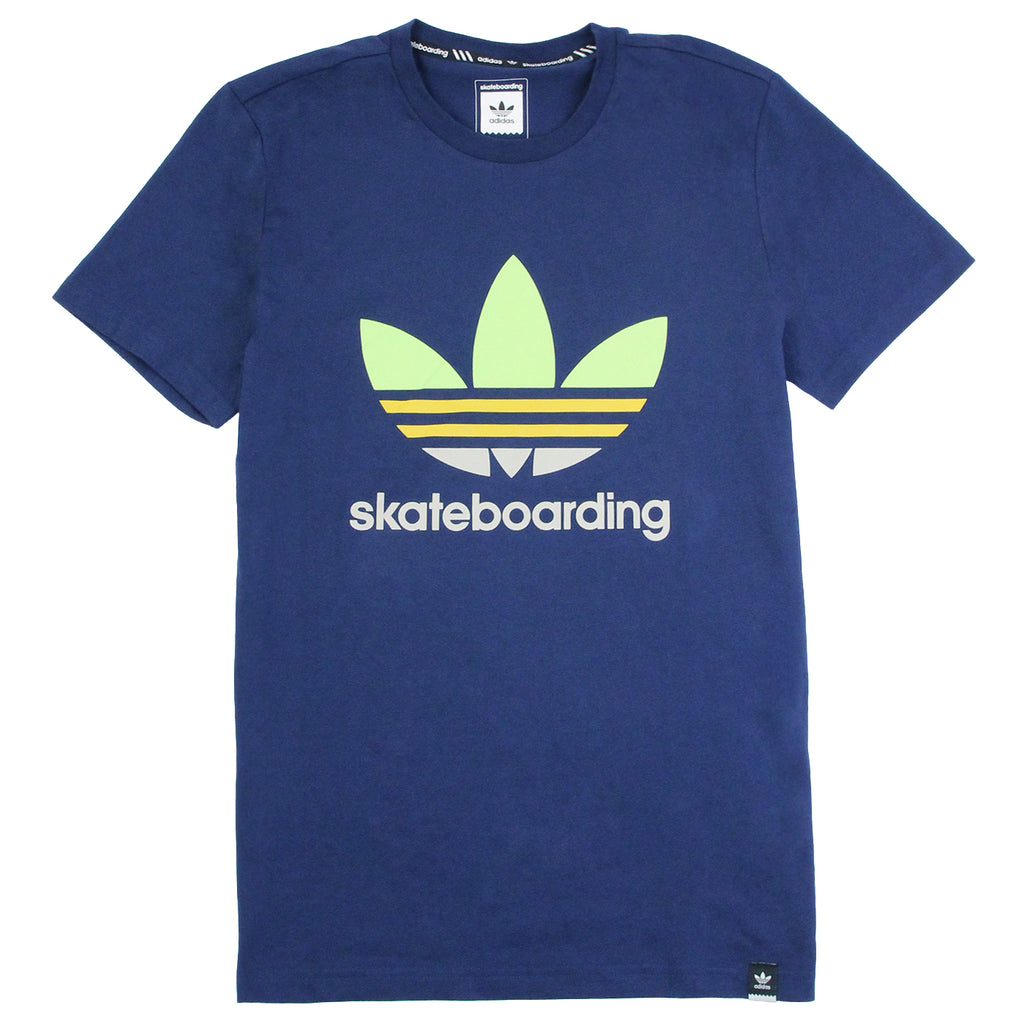 Adidas Skateboarding Adv Color Fill T Shirt in Oxford Blue