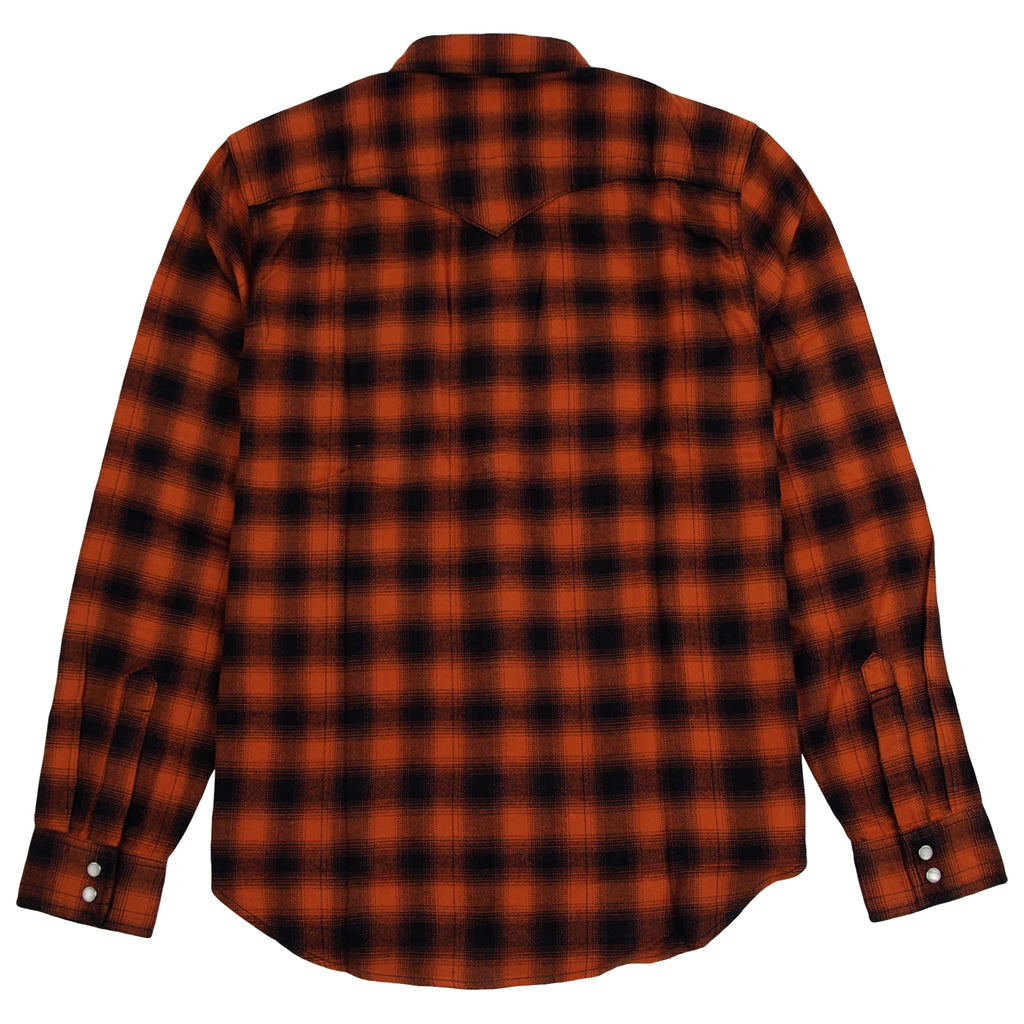 Levis Skateboarding Skate Western Shirt in Nilgai Bombay Brown - Back