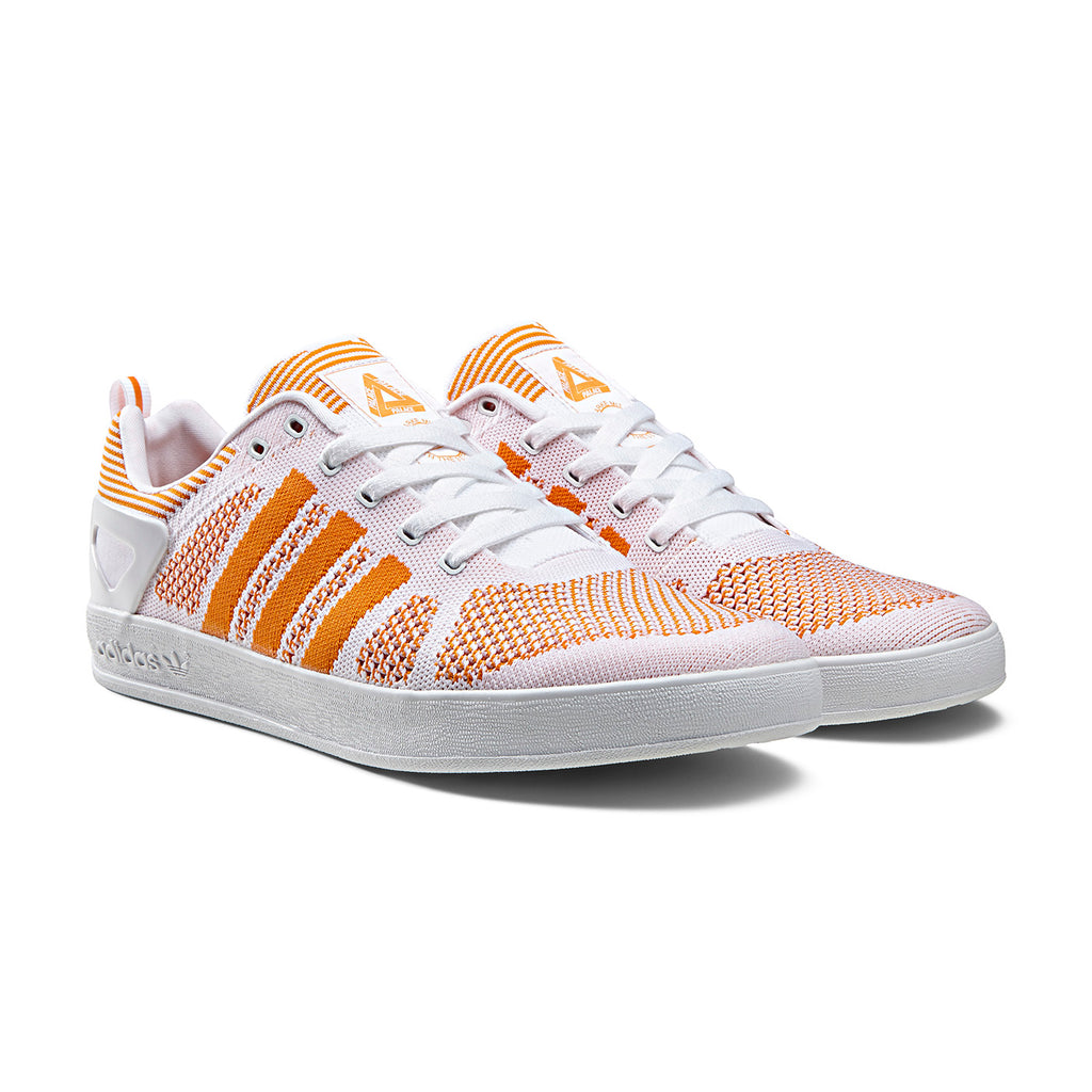 Palace x Adidas Palace Pro Primeknit Shoes in White / Bright Orange / FTWR White - Pair