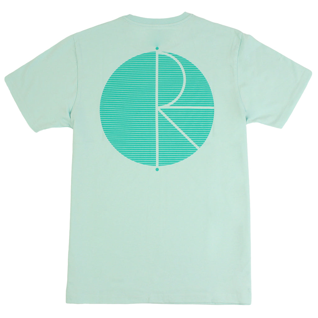 Polar Skate Co Fill Logo Behind The Curtain T Shirt in Pastel Mint / Green