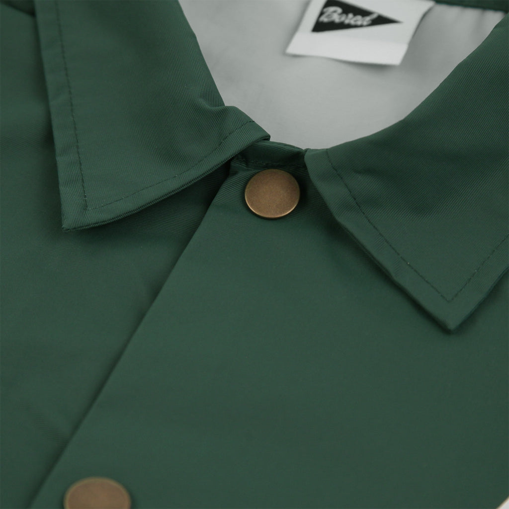 Bored of Southsea Anti Skate Club Coaches Jacket in Forest Green - Collar