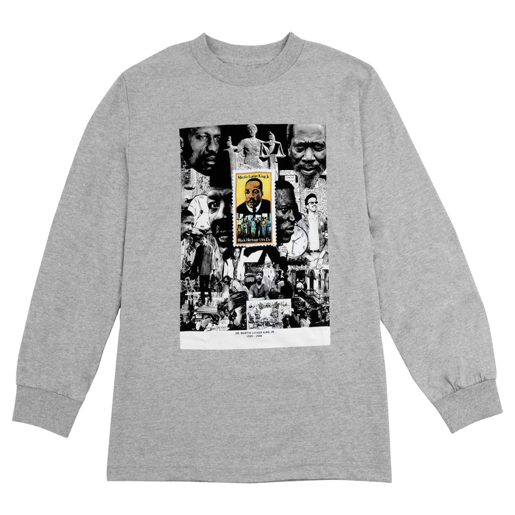 Fucking Awesome Sage MLK L/S T Shirt in Heather Grey