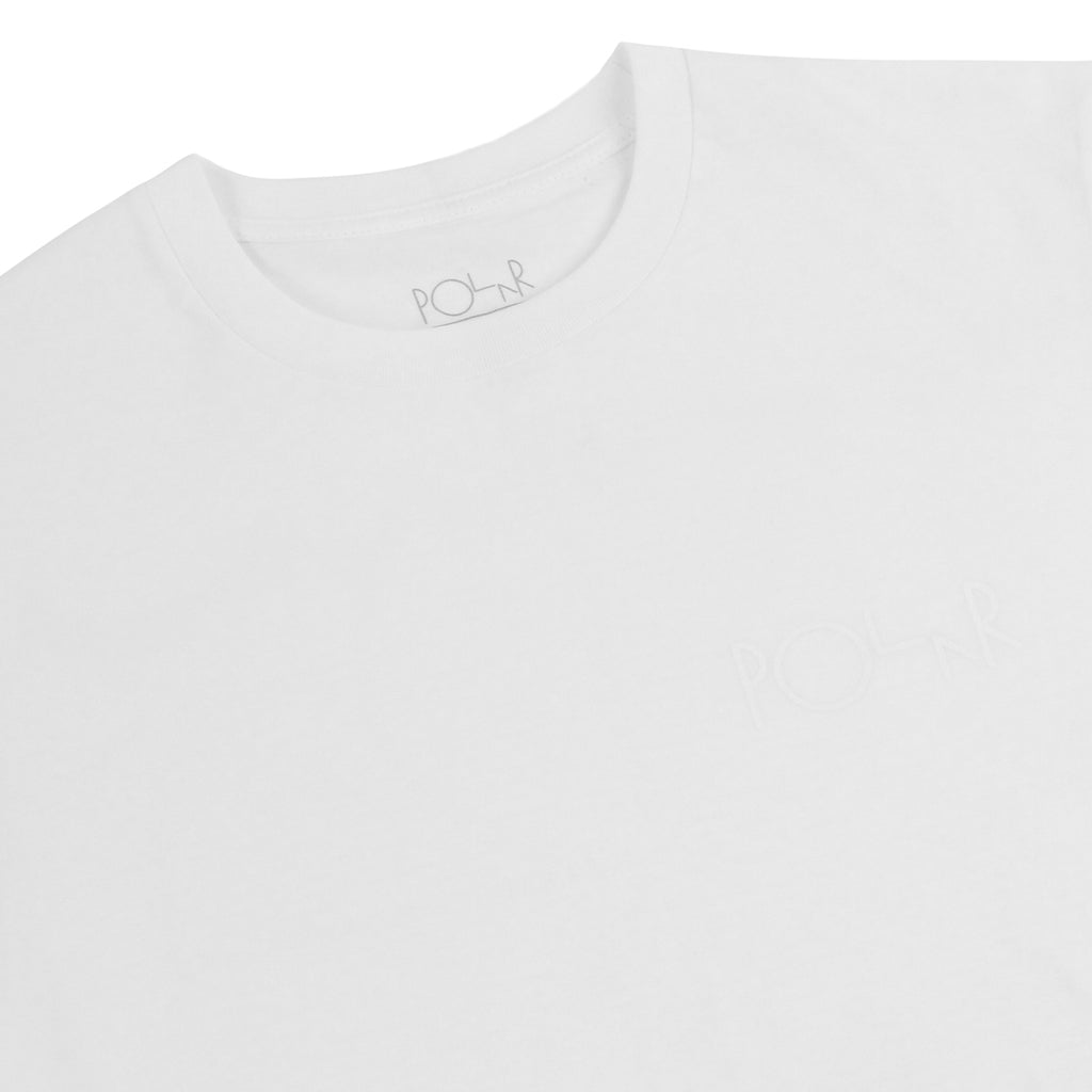 Polar Skate Co Behind The Curtain L/S T Shirt in White / White / White - Detail