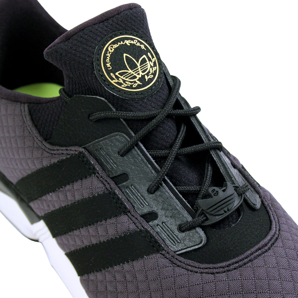 Adidas Skateboarding ZX Gonz Shoes in Carbon / Core Black / Core Black - Detail