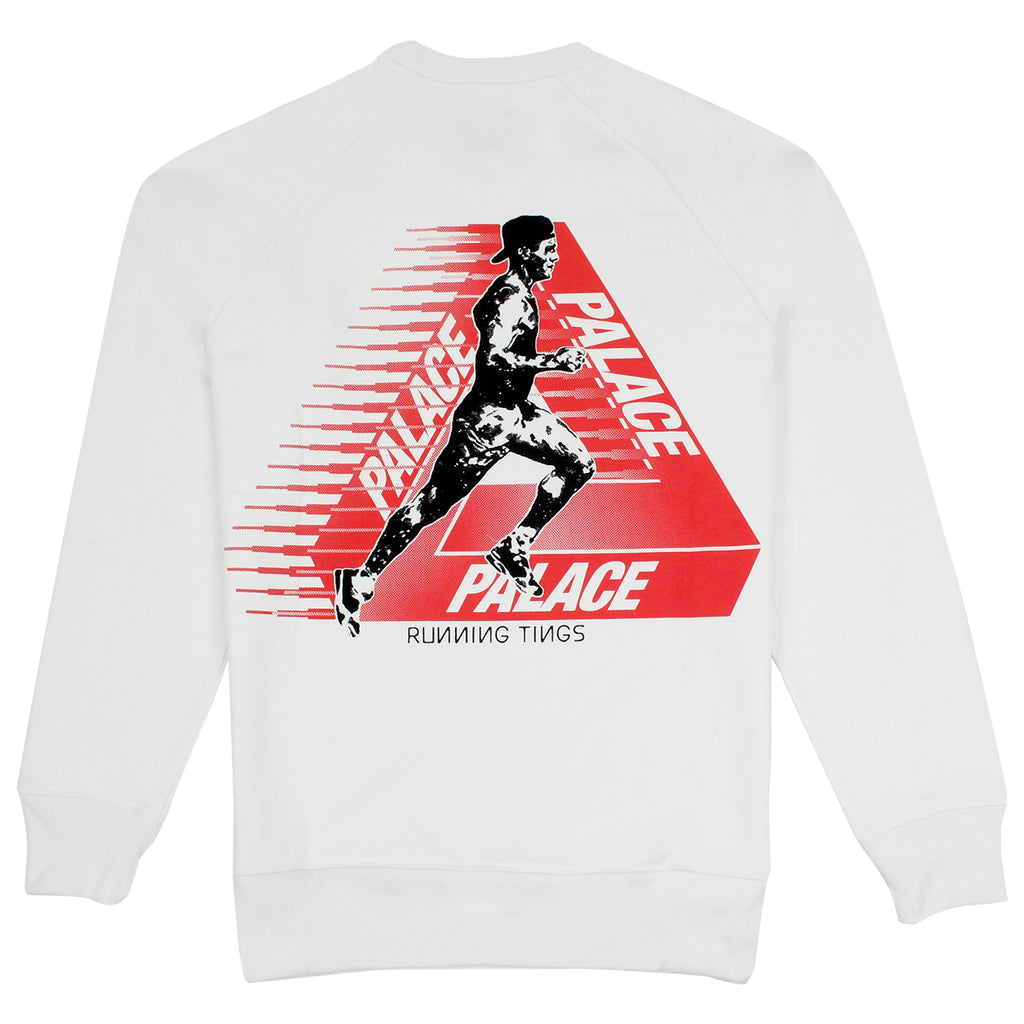 Palace Running Tings Crew in White