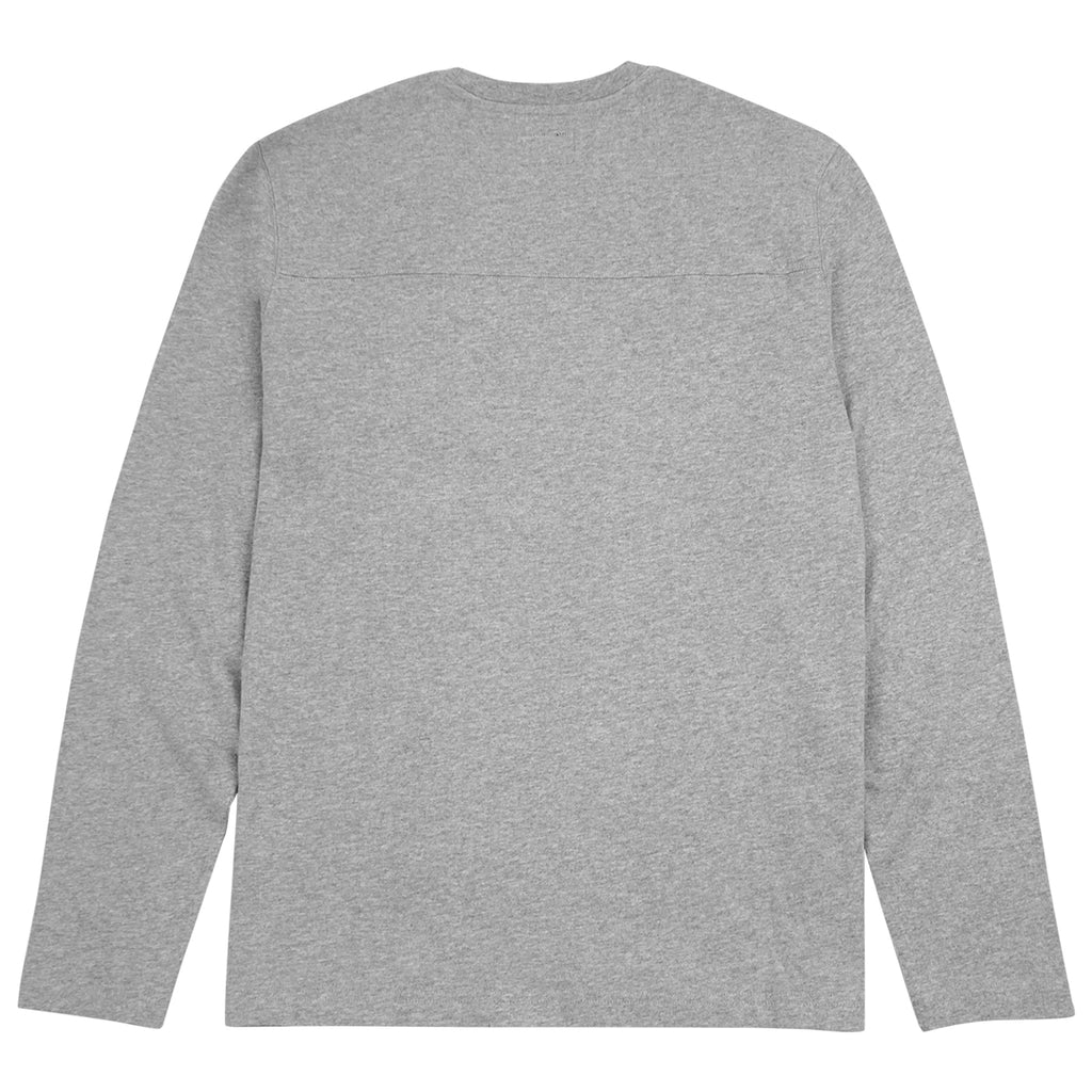 Stussy Kent Football Jersey in Grey Heather - Back