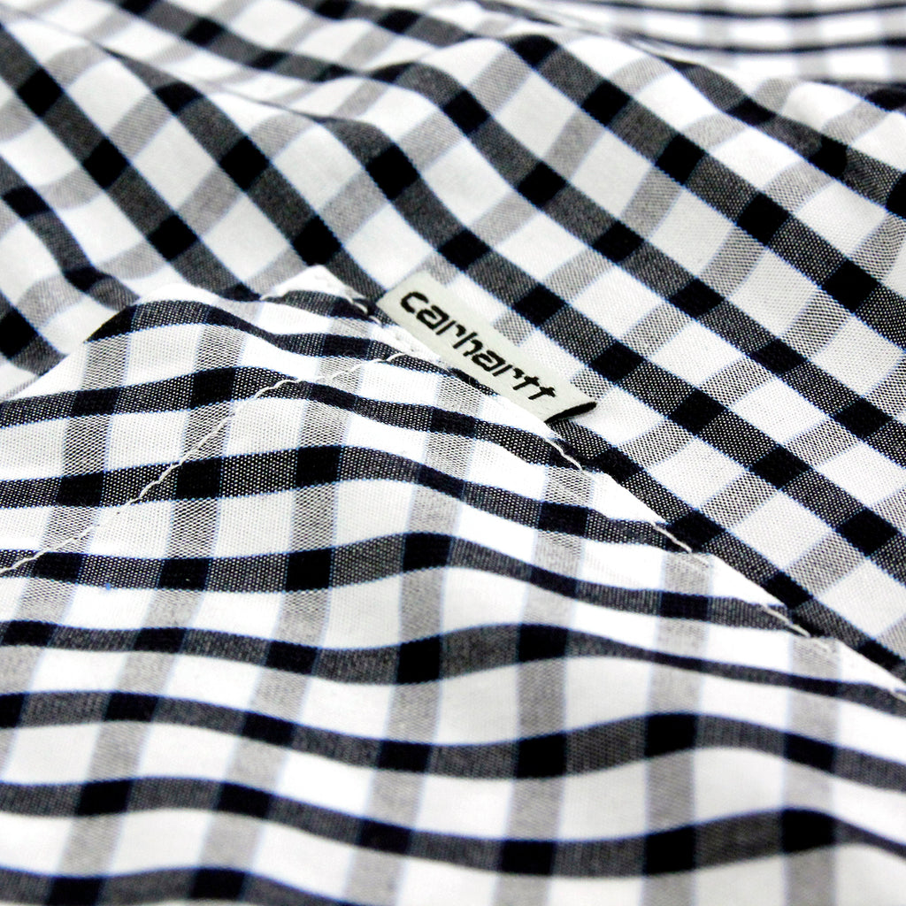 Carhartt Kenneth S/S Shirt in Black Kenneth Check - Label