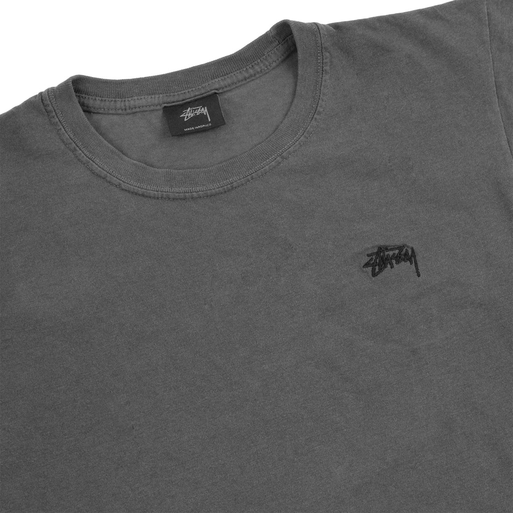 Stussy Small Stock Dyed T Shirt in Black - Detail