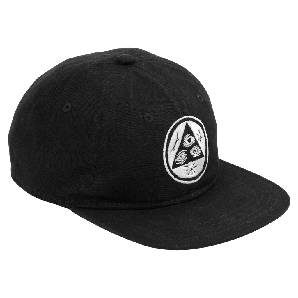 Welcome Skateboards Talisman Unstructured Snapback Cap in Black