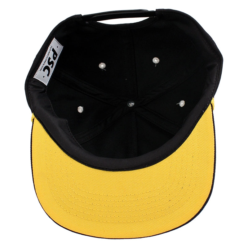 Polar Skate Co PSC Soft Snapback in Black / Yellow - Peak