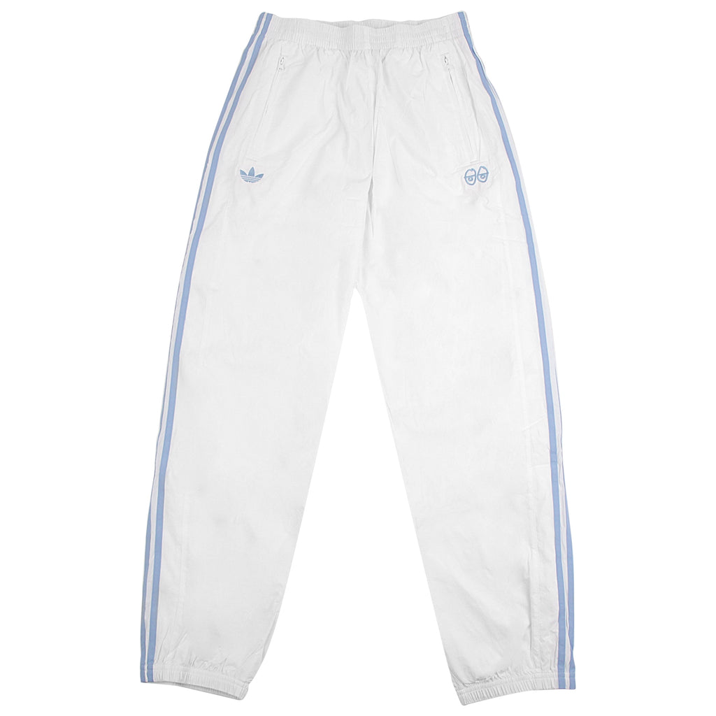 af524115058 x Krooked Track Pants in White   Clear Blue by Adidas Skateboarding ...