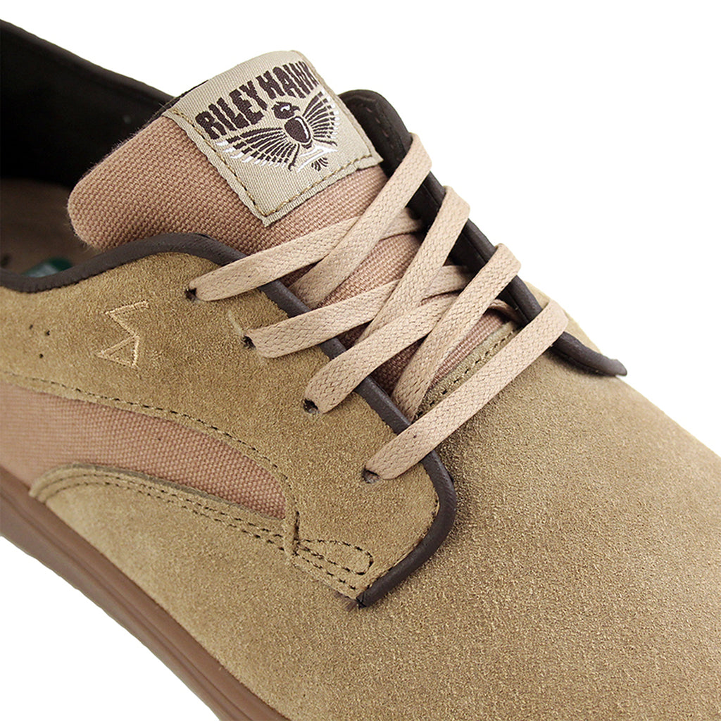Lakai Riley Hawk Pro Shoes in Walnut Suede/Gum - Detail
