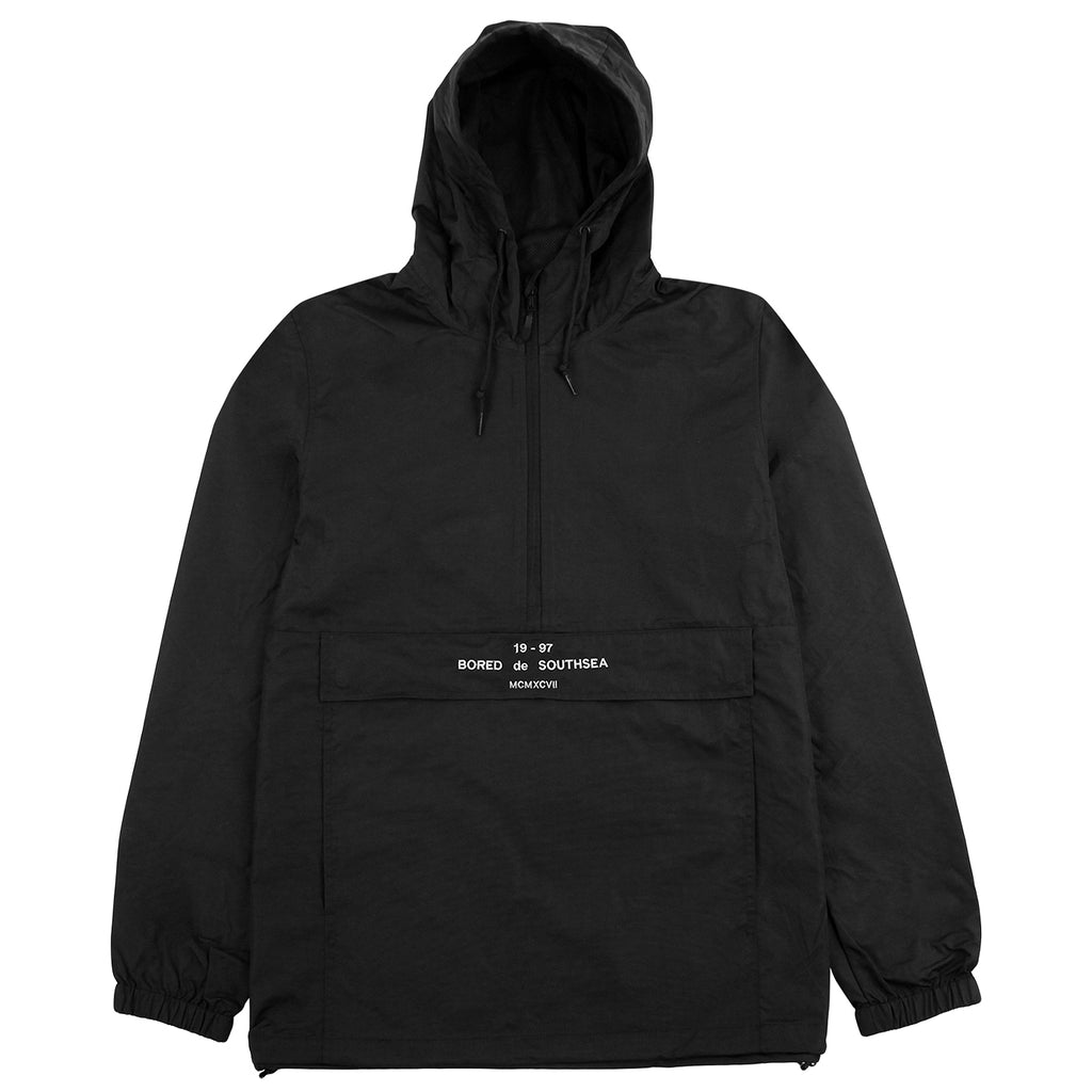 Bored of Southsea BDG Windbreaker Anorak Jacket in Black