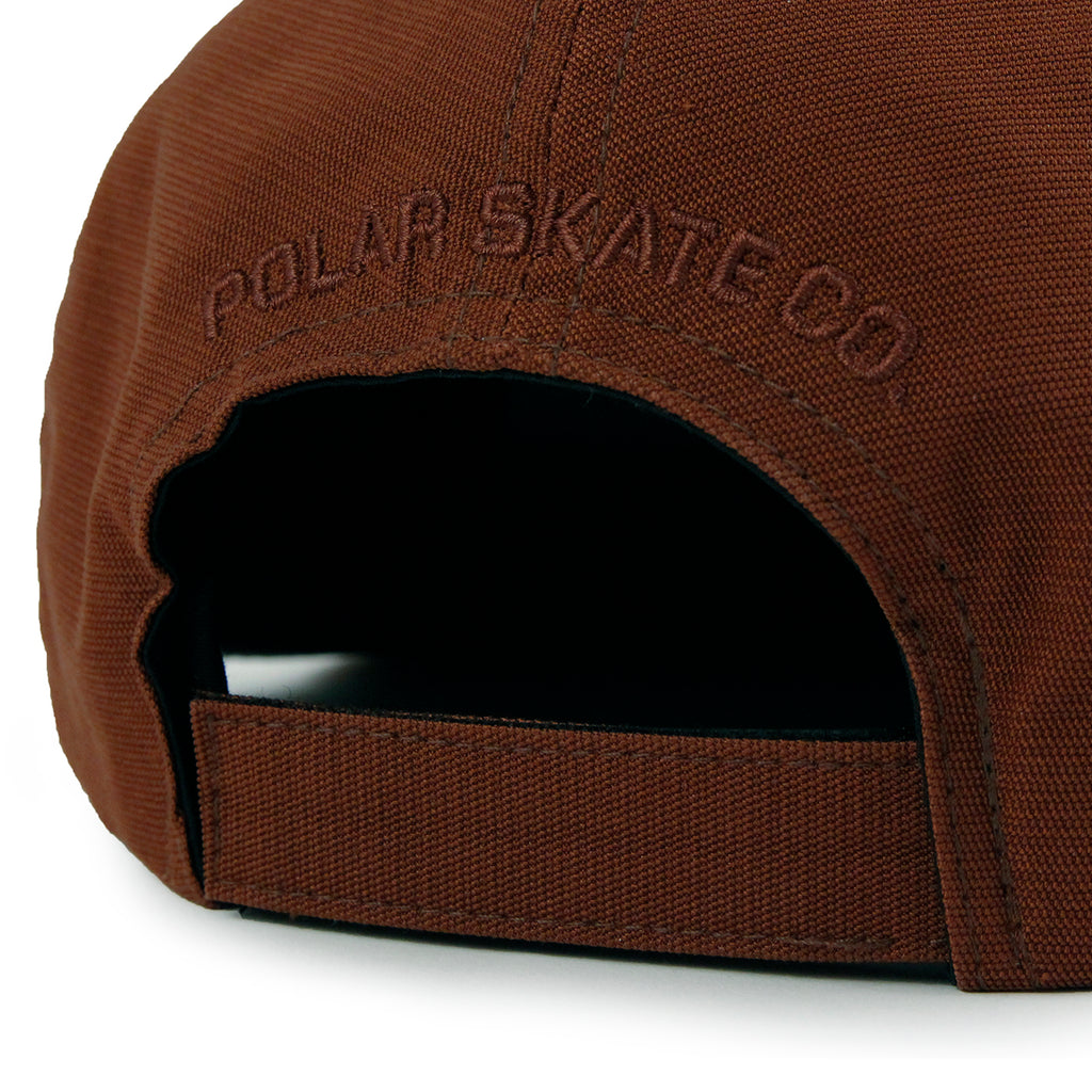 Polar Skate Co Plain Cap in Rust - Embroidery