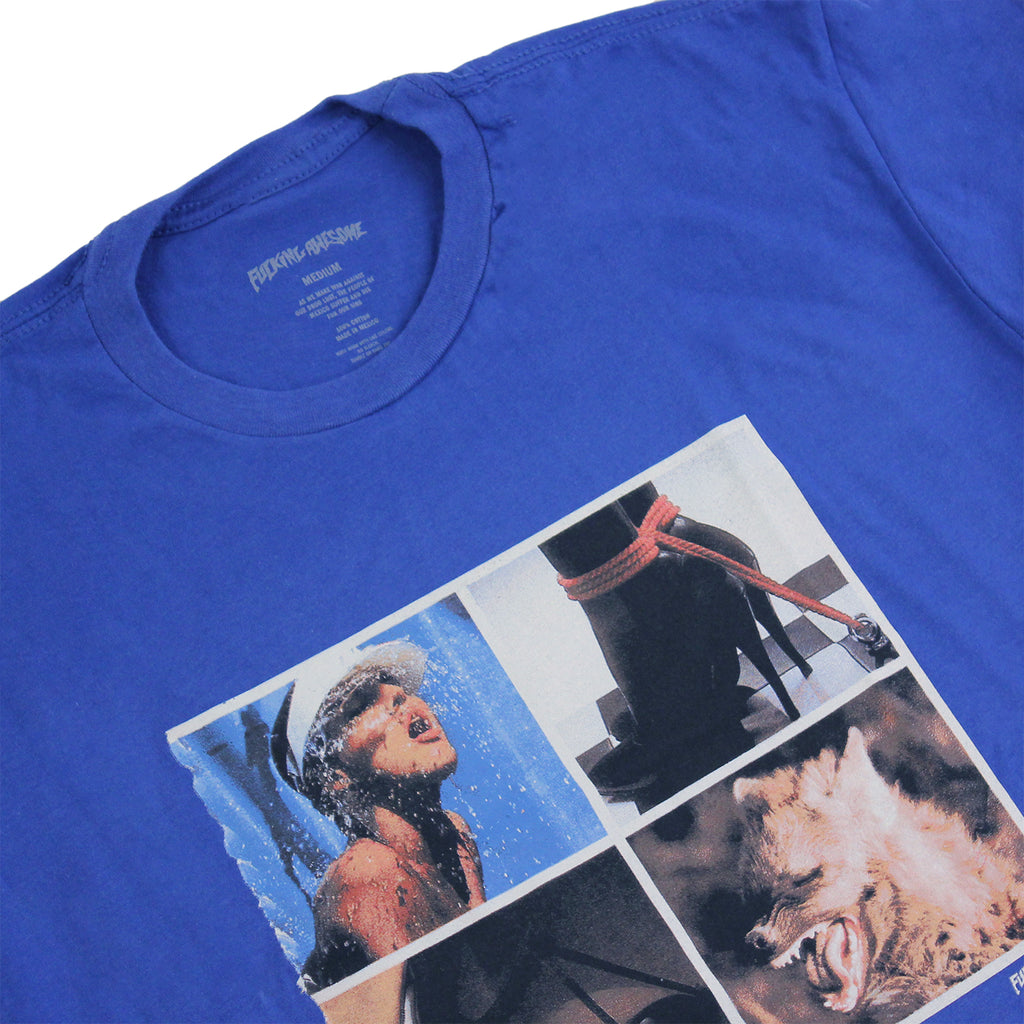 Fucking Awesome Squares T Shirt in Royal Blue - Details