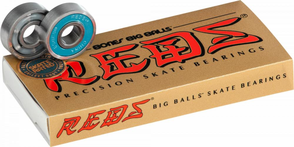 Bones Bearings Skateboard Bearings in Big Balls Reds