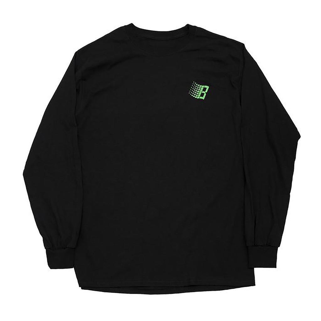 Bronze 56k B Logo L/S T Shirt in Black / Binary Code