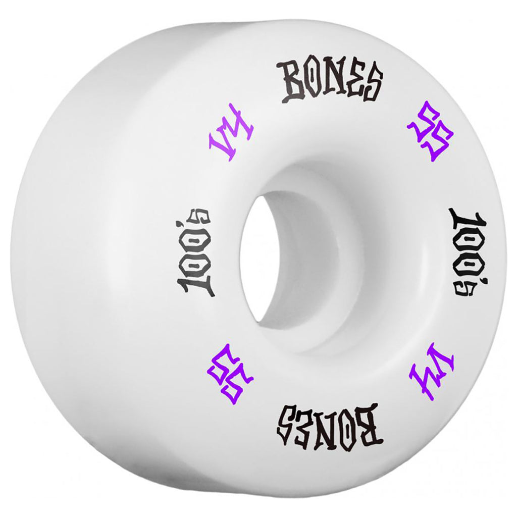 Bones Wheels 100's #12 V4 Skateboard Wheels in 55mm