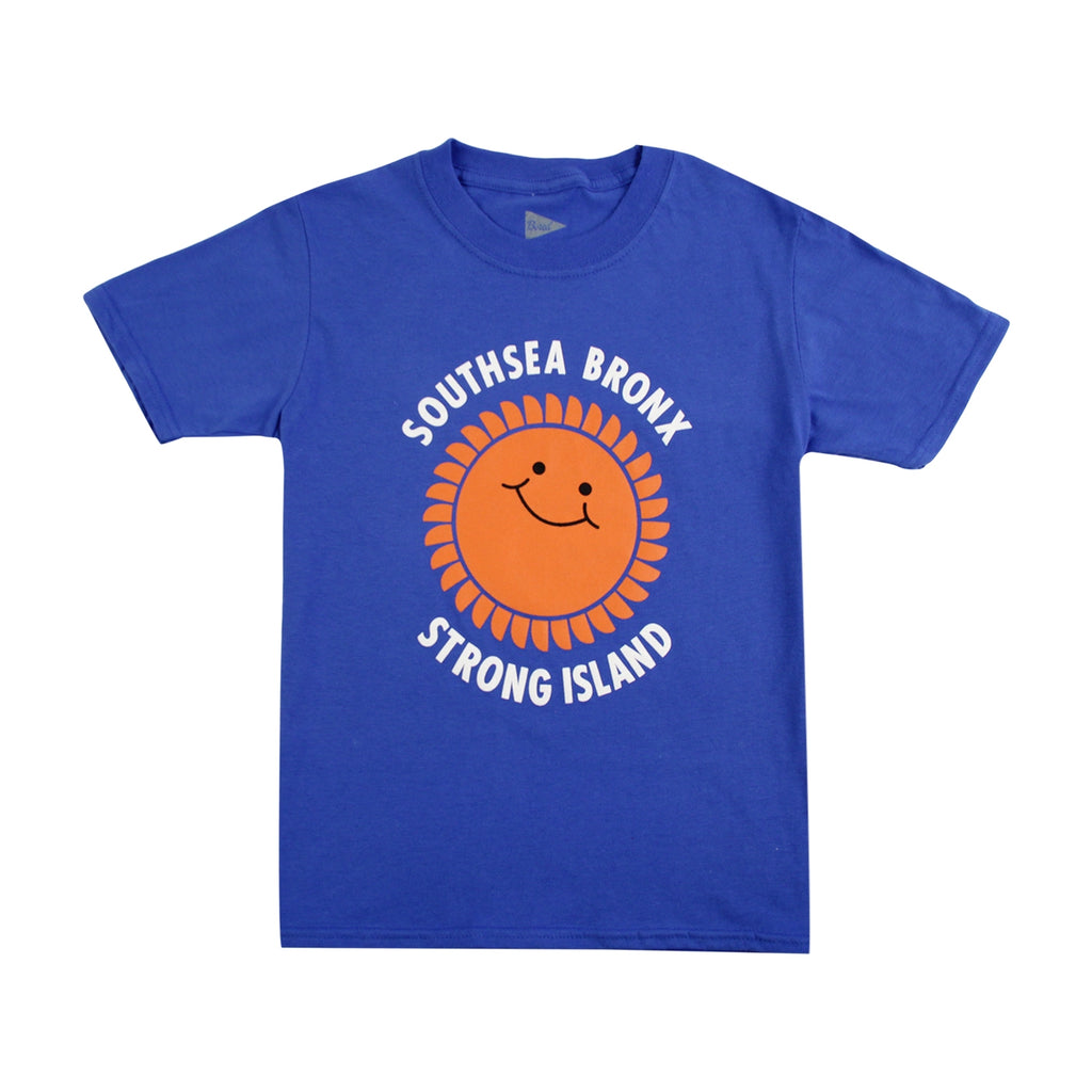 Southsea Bronx Strong Island Kids T Shirt in Royal Blue