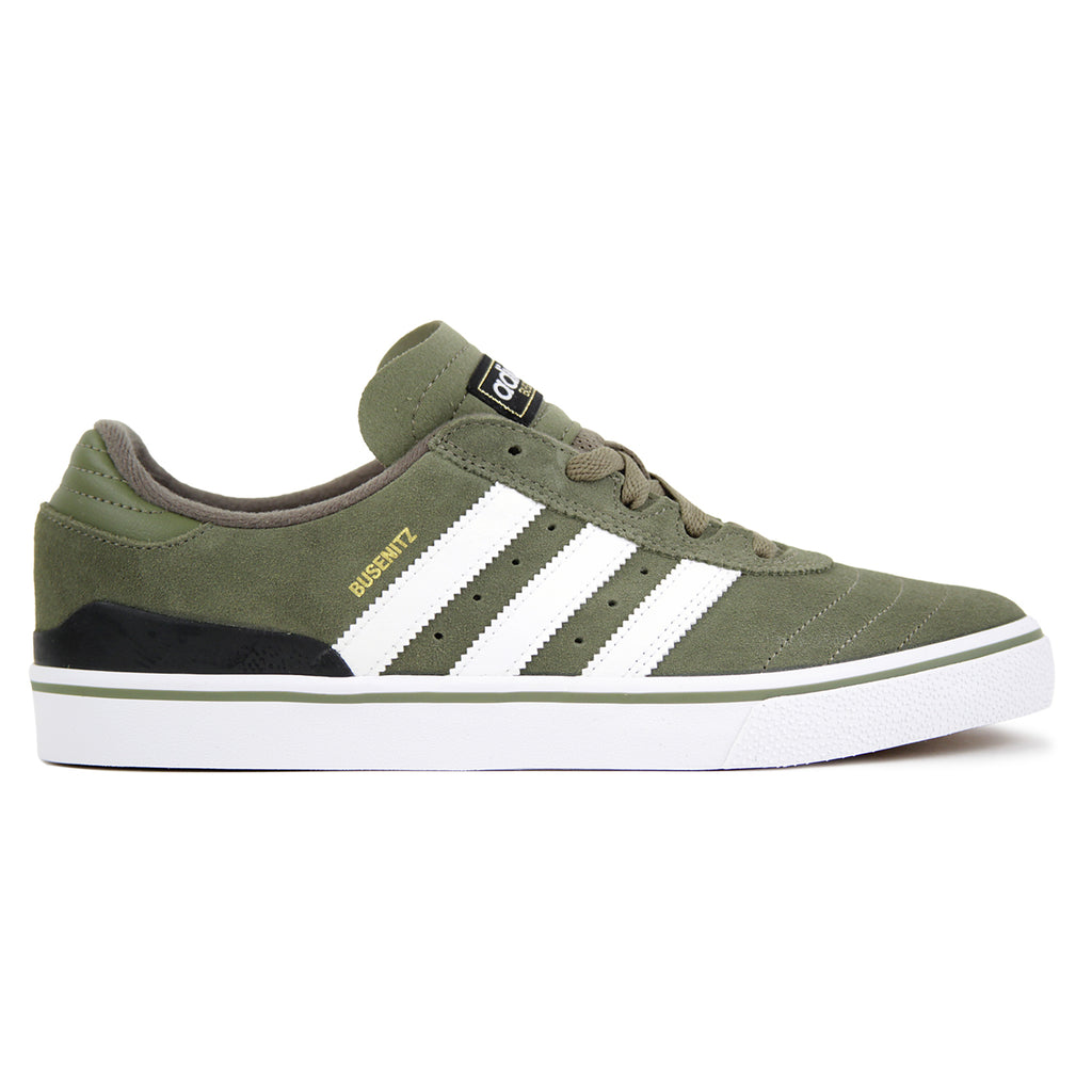 Adidas Busenitz Vulc Shoes in Olive Cargo / White / Core Black
