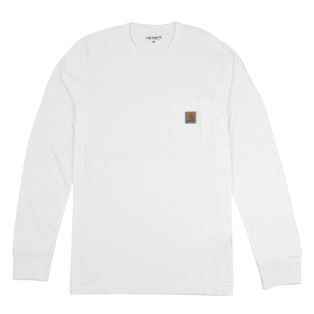 Carhartt WIP Pocket L/S T Shirt in White