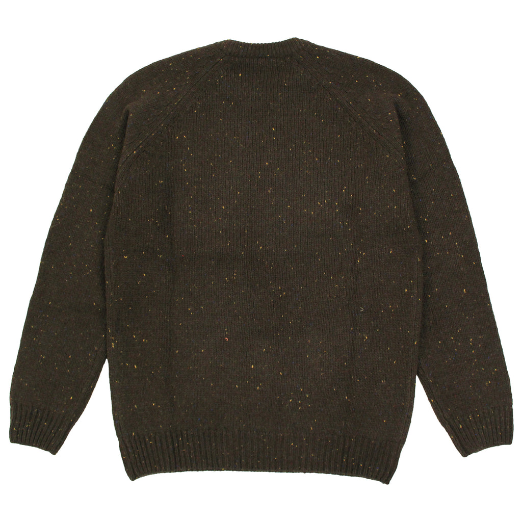 Carhartt Anglistic Sweater in Blackforest Heather - Back
