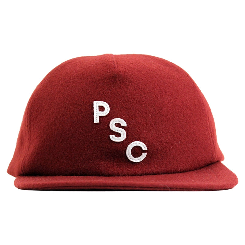 Polar Skate Co PSC 5 Panel Cap in Burgundy - Front