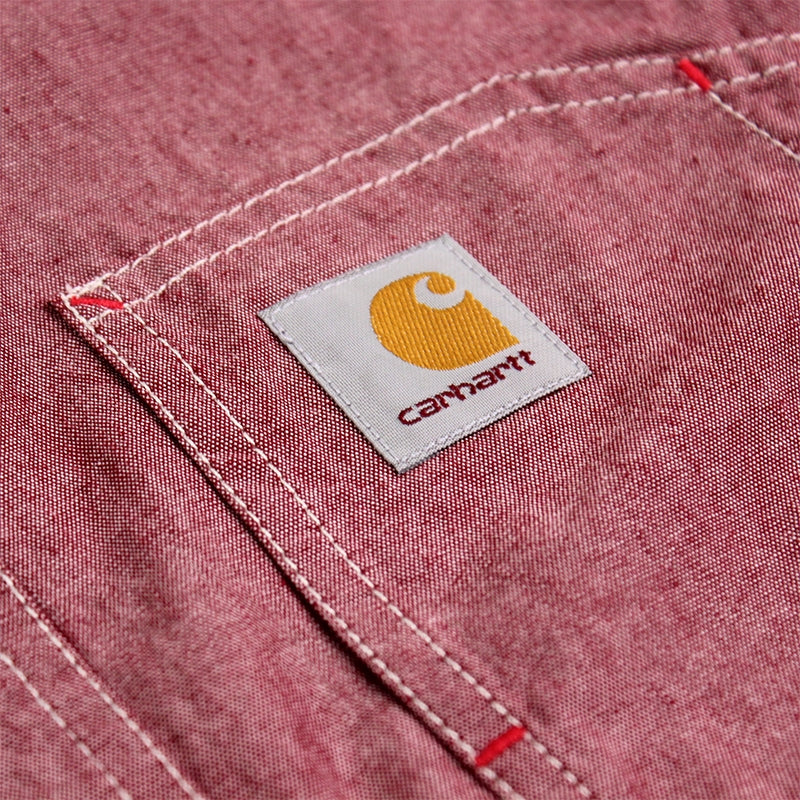 Carhartt State L/S Shirt in Cordovan Rinsed - Label detail