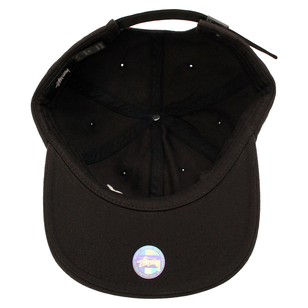 Stussy International Sports Cap in Black - Inside