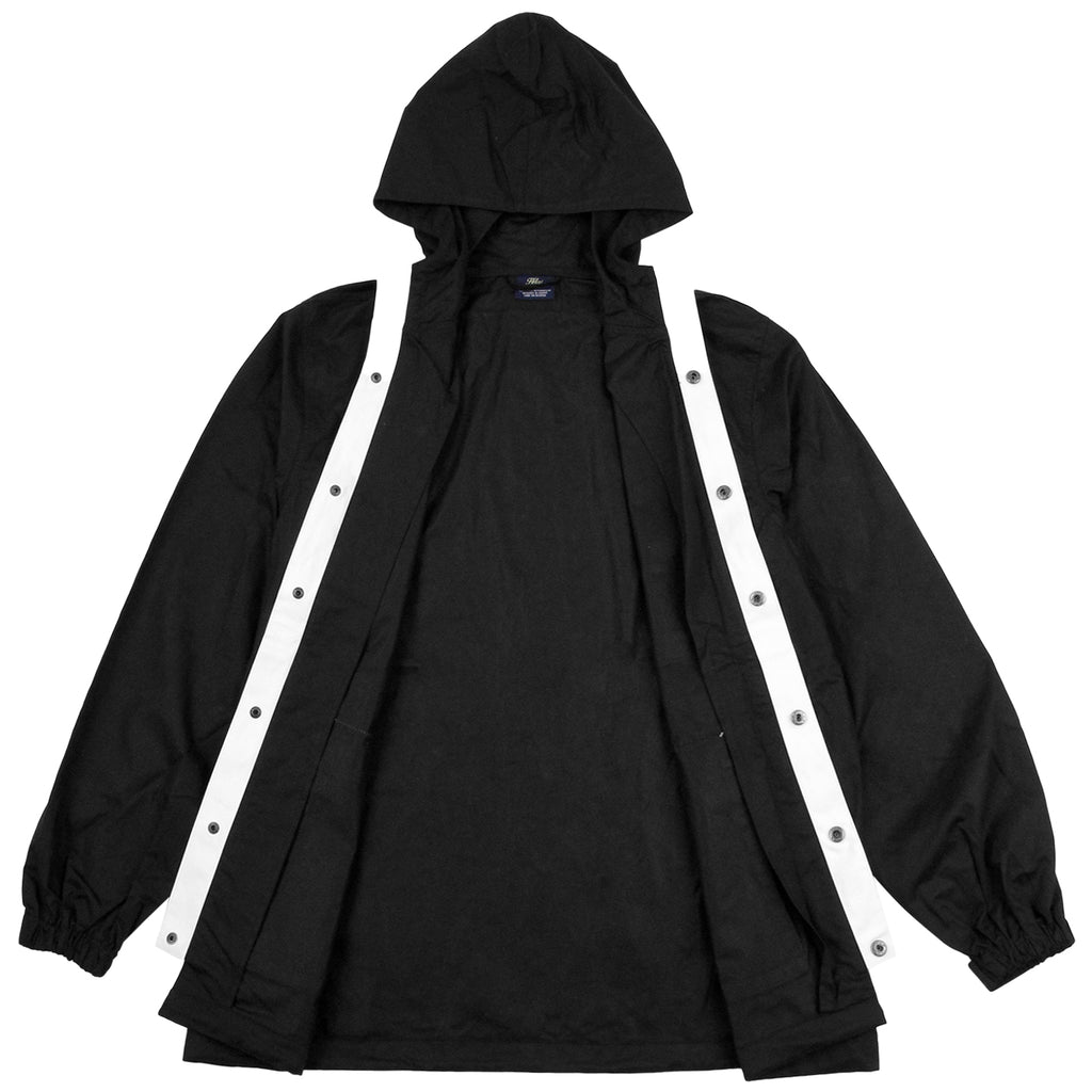 Helas Badman Hooded Coach Jacket in Black - Open