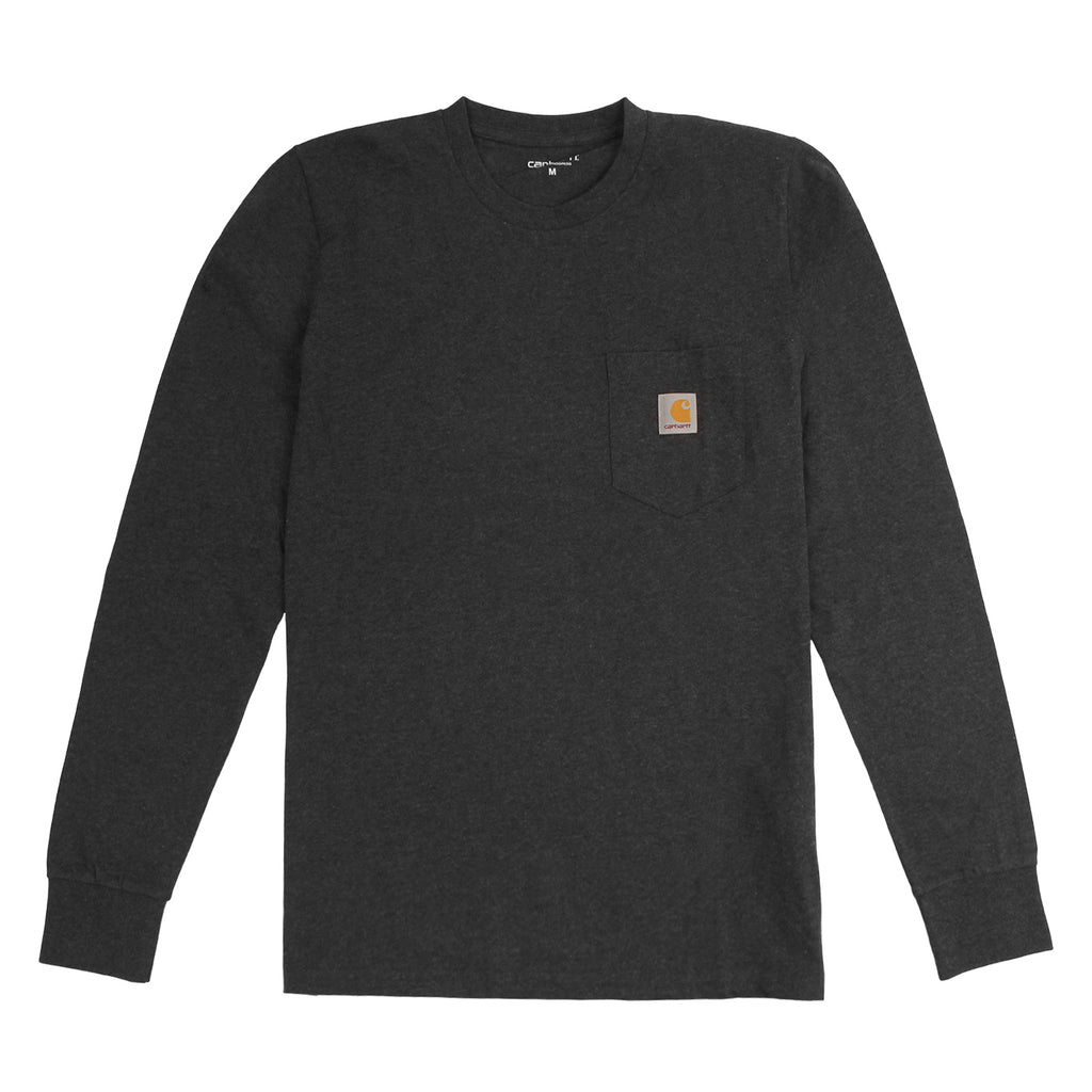 Carhartt WIP L/S Pocket T Shirt in Black Heather