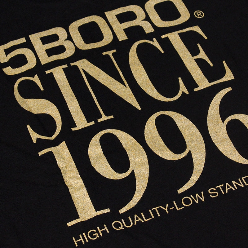 5BORO 5B VHS STACK T SHIRT BLACK - Back print detail