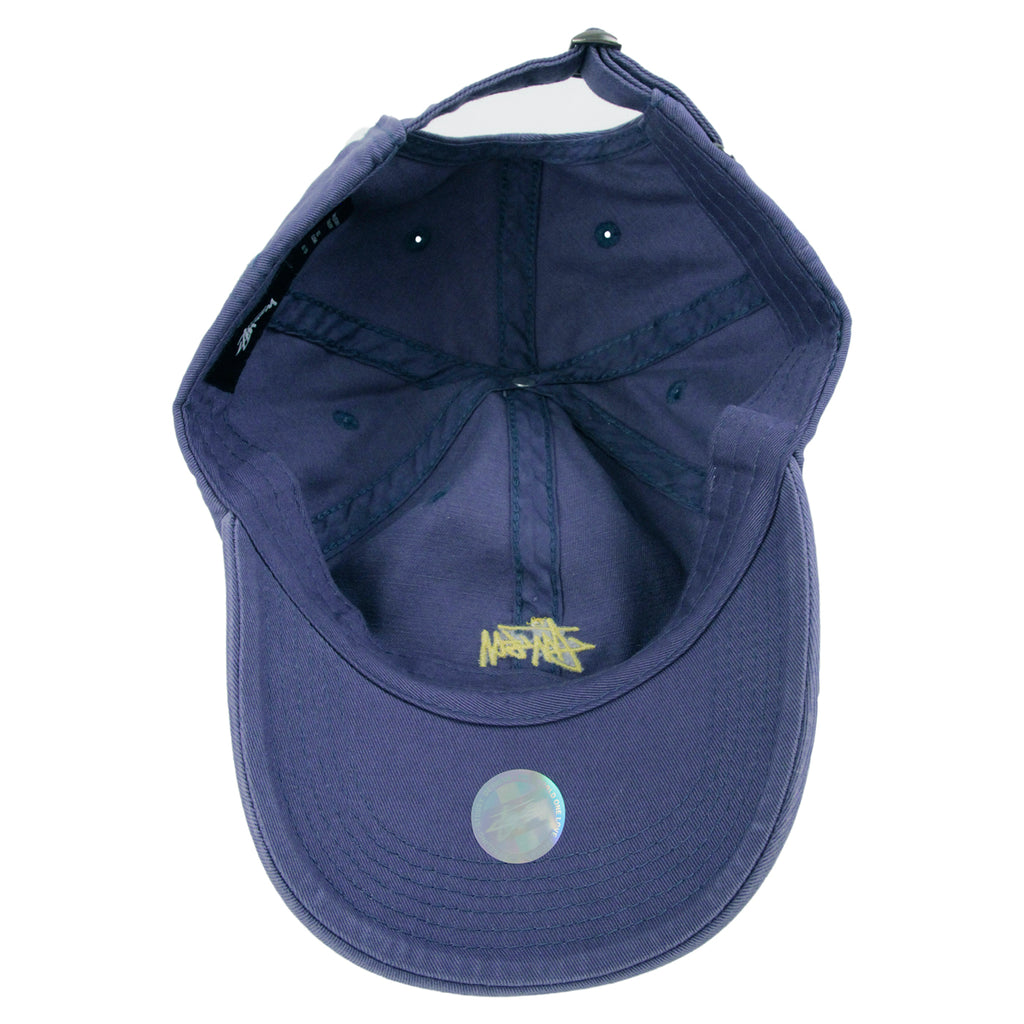 Stussy Low Profile Cap in Blue - Inside