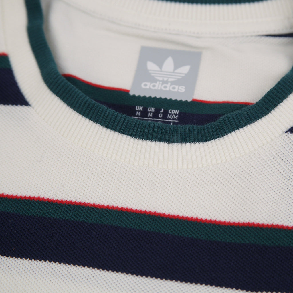 Adidas Skateboarding Clubhouse T Shirt in Off White / Night Indigo / Collegiate Green / Scarlet - Nape